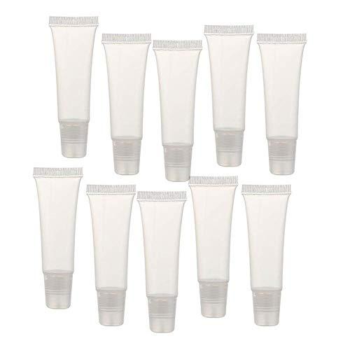 Haude Lot de 50 tubes vides de 10 ml pour gloss à lèvres, lotions, tubes souples pour distribuer soi-même et voyager
