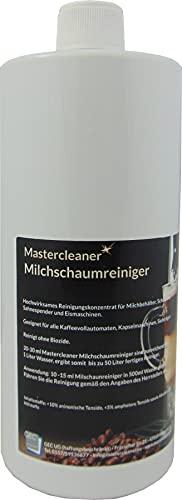 Mastercleaner   Milchreiniger   Milchschaumreiniger   Milchdüsenreiniger   Milchsystemreiniger   Cappuccino Reiniger   für Kaffeevollautomaten Kapsel und Pad Maschine geeignet für alle Marken 1L.