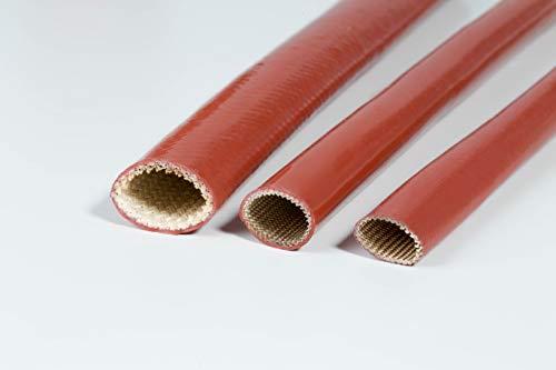 Gaine tubulaire de protection pour moteur de voiture Elle résiste à la chaleur, aux rayons UV, à l'huile, à l'essence, diamètre disponible de 1 mm à 28 mm, vendue au mètre, de couleur rouge, rouge