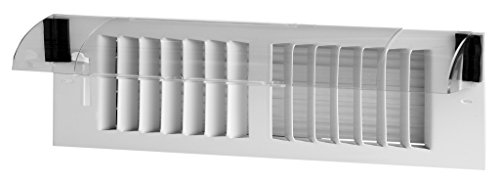 Frost King HD5 Heat Deflector, Multi-Purpose, Clear Plastic with Magnetic Hold for Central Forced Air Systems, Adjustable 10' to 14'