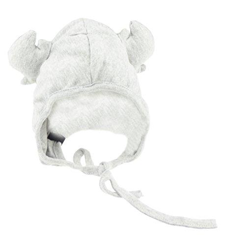 Glamour Girlz Bonnet d'hiver en coton avec cornes de cerf et cerf et cerf Gris 9 mois