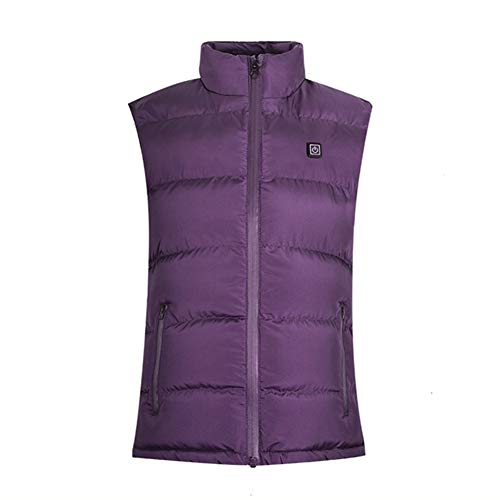 Wgwioo Electric Waistcoat USB Heated Vest for Women and Men Motorcycle Snowmobile Fishing Hiking,Purple,S