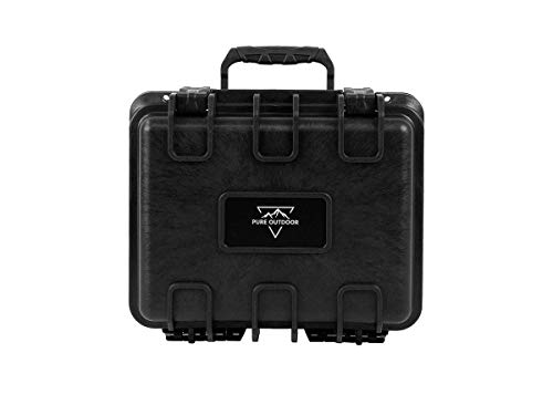 Monoprice Weatherproof/Shockproof Hard Case - Black Ip67 Level Dust and Water Protection Up to 1 Meter Depth with Customizable Foam, 10' x 9' x 7'