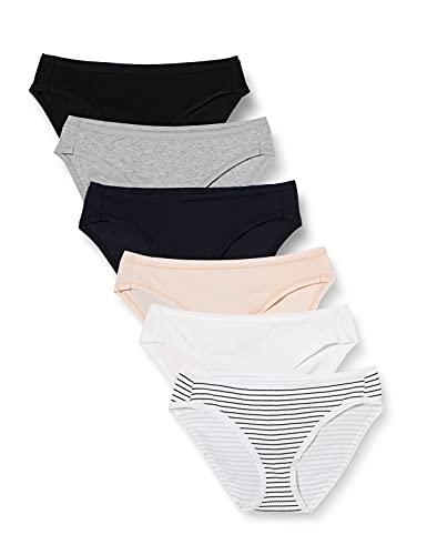 Amazon Essentials Women's Cotton Stretch Bikini Panty, Classic Assorted, Medium