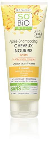 puissant SO'Bi Oétic Après-Shampoing Nourrissant Karité / Argan 200 ml – Pack 2