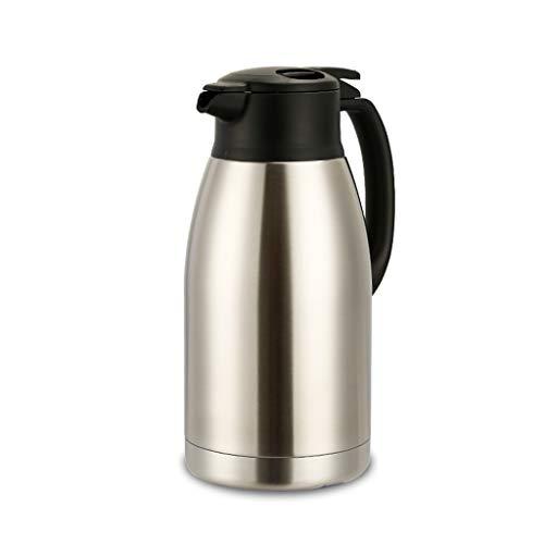 Karafka Termiczna na Gorące Napoje 1, 9L Produkt Vacuum Izolacja Termos Stal nierdzewna Dwuwarstwowa Podwójna izolacja Pot Joice Kawa Drink Herbata Karafka Próżniowa (Color : Silver)