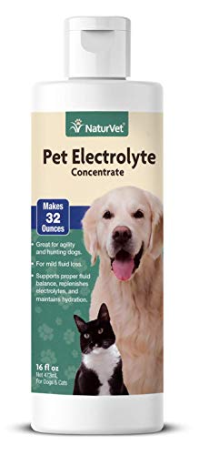 NaturVet Pet Electrolyte Concentrate for Dogs and Cats, 16 oz Liquid...