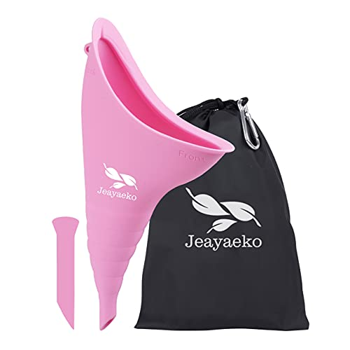 Jeayaeko Female Urination Device, Female Urinal, Portable Urinal for Women She Pee Cup for Women Standing up Reusable Travel Urinal Female Urination Device for Women Road Trip Camping with Carry Bag