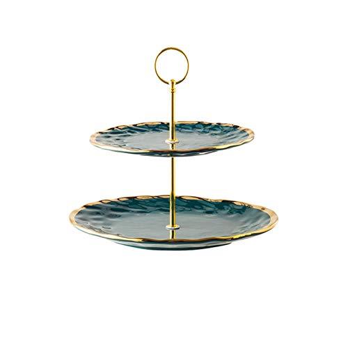 Estilo europeo espejo de oro placa de pastel de hierro forjado decoración de la mesa de la mesa de la decoración de la decoración de la decoración de la bandeja de cristal del soporte de la torta Tiem
