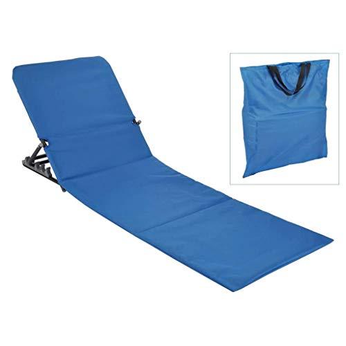 HI Strandliege 145x47x52 cm klappbar blau Strandmatte Sonnenliege tragbar zusammenklappbar Outdoorliege