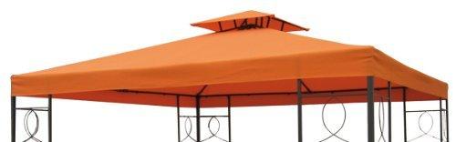 Spetebo Pavillon Ersatzdach 3x3 Meter - Terracotta - wasserdicht/Kaminabzug - Pavillondach