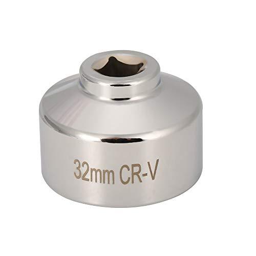 Ölfilterschlüssel 32mm Flutes End Socket Vierkantkappe Remover Tool Auto Autoreparaturwerkzeuge Entfernen Kanistergehäuse - Silber
