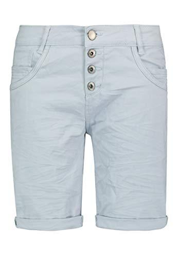 Sublevel Damen Bermuda-Shorts mit Aufschlag & Knopfleiste Light-Blue M