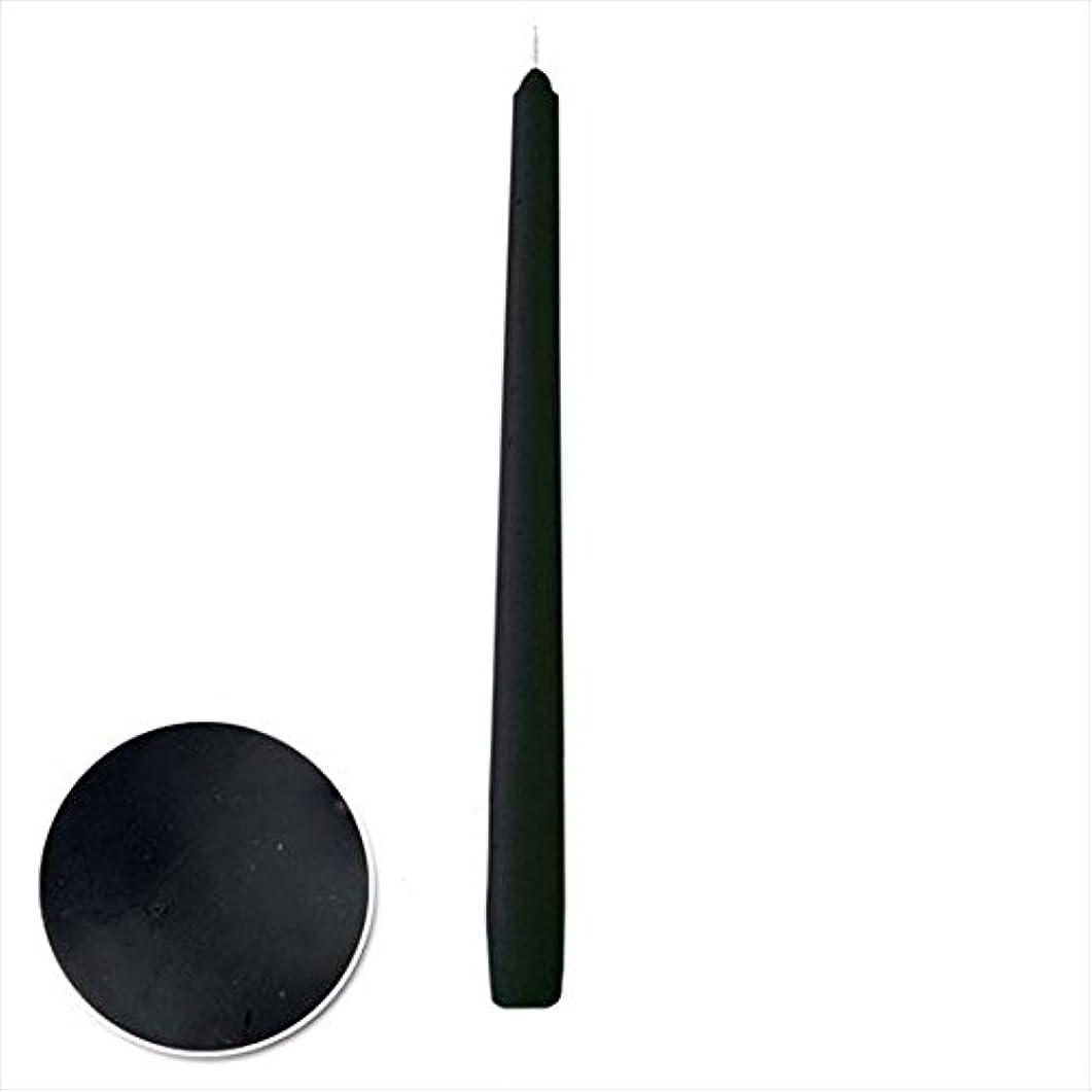 ジェット旅行者不条理カメヤマキャンドル(kameyama candle) 12インチテーパー 「 ブラック 」 12本入り