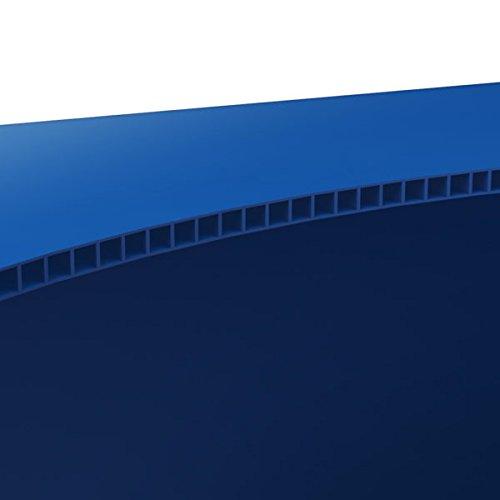 PoubelleDirect collettore di Tri in plastica /· Pattumiera Raccolta differenziata 80L Verde /· Pattumiera Verde /· Pattumiera di Tri per Ufficio /· collettore di rifiuti