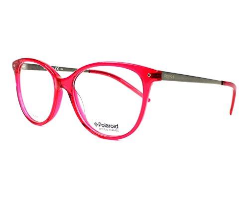 Polaroid Brille (PLDD-309 1Q5) Acetate Kunststoff rot kristall - silber