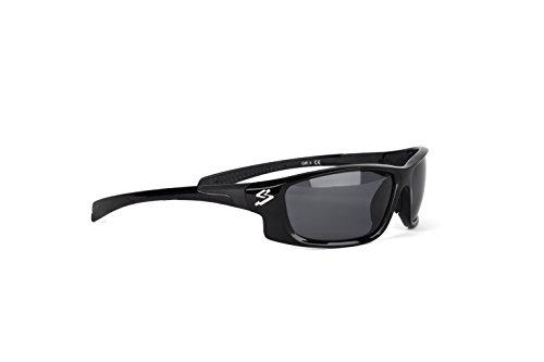 Spiuk Spicy – Gafas de Ciclismo Unisex, Color Negro Mate/Negro