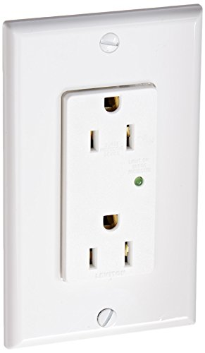 Leviton 5280-W 15 Amp, 125 Volt, Decora Plus Duplex Surge Suppressor...