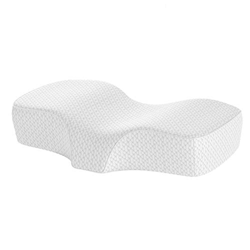 UTTU Contour Memory Foam Pillow, Ergonomic Cervical Pillow for Neck and Shoulder Relief, Adjustable Height Pillow with Two Layers, Sleeping Pillows for Side, Back, Stomach Sleepers, Washable Cover