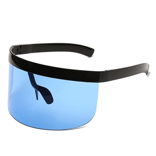 FXCHEN Gafas De Sol Mujer Hombre Gafas Gafas De Sol Marco Grande Visera Protectora Hombres Gafas A Prueba De Viento UV400 (JY6)