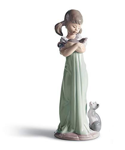 LLADRÓ Mädchen-Figur Vergiss Mich Nicht. Mädchen. Porzellan.