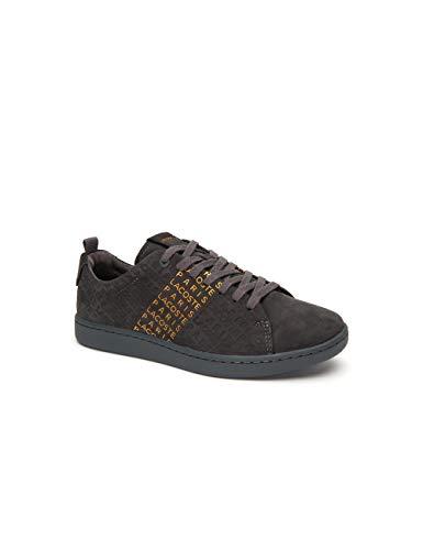 Lacoste Carnaby Evo 319 Sneaker Damen dunkelgrau/Gold, 8 UK - 42 EU - 10 US