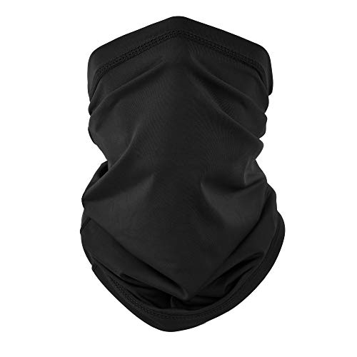 EXski UV Face Mask, Bandana Neck Gaiter Balaclava Summer Cooling Breathable for Cycling Running Fishing Outdoors Black