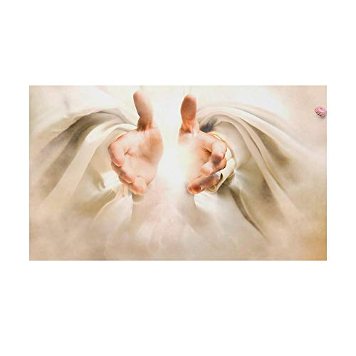 God Open Hands Jesus Painting Wall Art Christ Savior Decor Poster Canvas Print Jesus Picture Christian Living Room Home Wall Decor 50x70cm No Frame