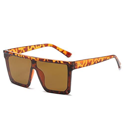 Moda Gafas De Sol De Gran Tamaño para Mujer, Gafas De Sol De Moda, Montura Grande A Prueba De Viento, Sombra Fresca, Espejo De Conducción Superior Plano para Hombre, Gafas Uv400 4
