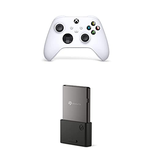 Xbox Controller with Seagate Storage Expansion Card for Xbox Series X|S 1TB Solid State Drive