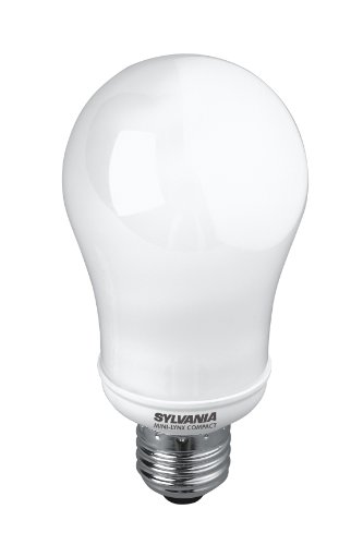 Sylvania-E27 Edison - 28 W à vis GLS CFL Ampoule compacte Fluorescente à économie d'énergie Blanc