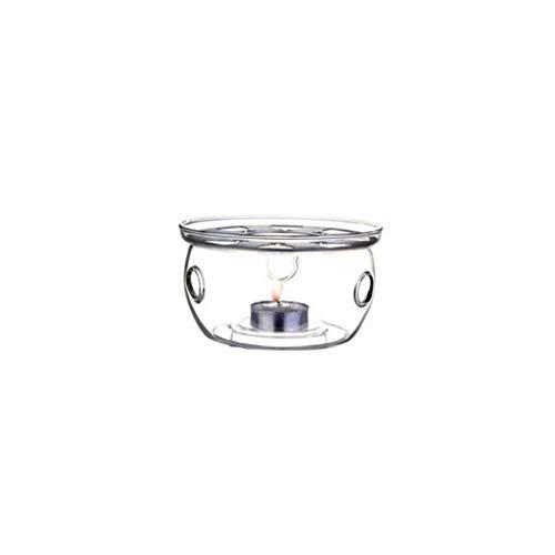 TOPofly Hohe Hitzebeständige Borosilikat-Glas verdicken Stövchen Heizung Base Set Teekanne Tee-Licht-Heater