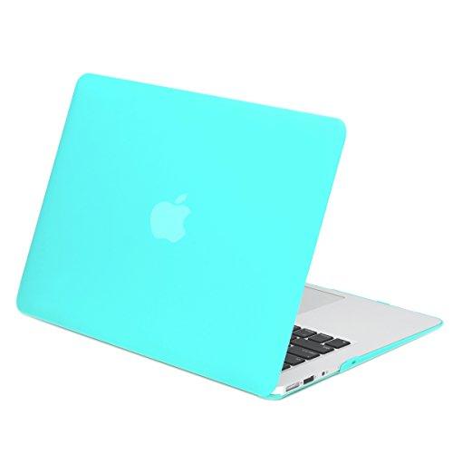 Funda rígida recubierta de goma TopCase para Macbook Air 11 '(A1370 y A1465) con alfombrilla de ratón TopCase (azul caliente)