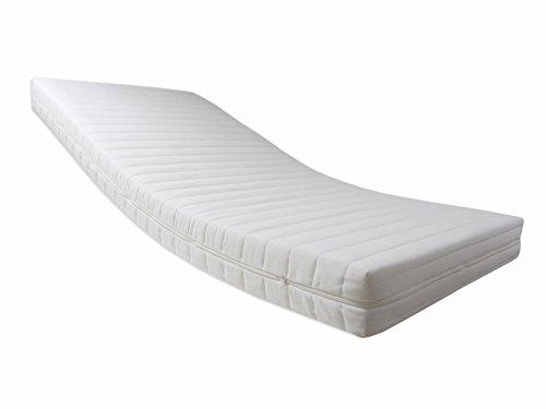 Dibapur Pro Vital Deluxe - Colchón de espuma fría (ortopédico, dimensiones opcionales, altura de núcleo: 14 cm, altura con funda acolchada de cierre con cremallera en los cuatro lados: 14,2 cm, grado de dureza: H2,5), 80 x 200 cm
