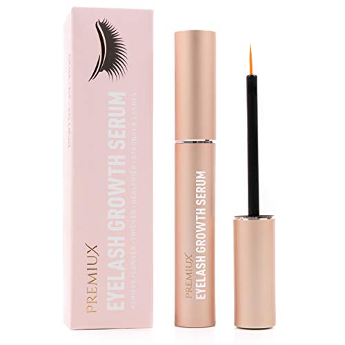 Eyelash Growth Serum- Grow Longer Fuller Eyelashes - Natural Eyebrow and Eyelash Serum for Thicker Lashes and Brows - Hypoallergenic and Dermatologist Certified Brow Growth and Lash Growth Serum