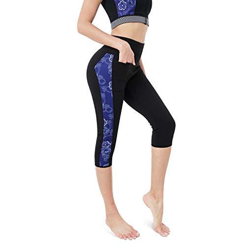CtriLady Women Neoprene Wetsuit Pants 2.5mm Keep Warm Legging Swimming Diving SnorkelingSurfing (Black, Large)
