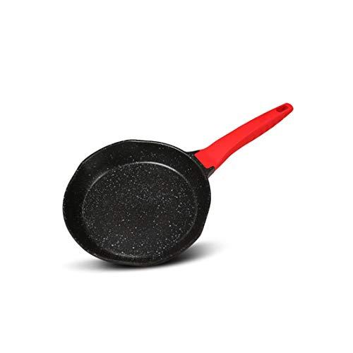 HENGXIANG Pan, antiaanbakpan met rijst en steenkleur, 26cmV-vormige koekenpan, gebakken ei, gefrituurde knoedels, lage oliebrandstof, universele inductiekookplaat, universele inductiekookplaat