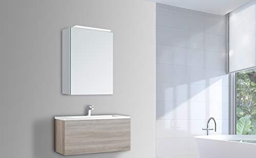 Talos Mirage - Luz LED para Armario con Espejo, 4200 K, Cuerpo de Aluminio, 40 x 60 cm