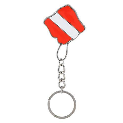 KUIDAMOS Resistente y Duradero Aleación de Zinc Ligero Aleación de Zinc Bandera de Buceo Llavero Puede Colgar Accesorios Clave, para Regalo de Amigos(Type A)