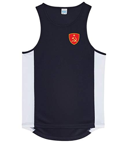 Nation CCCP Sowjetunion Trikot Tank Top Athletic Sport Gym ATH BR-SC (XXL)