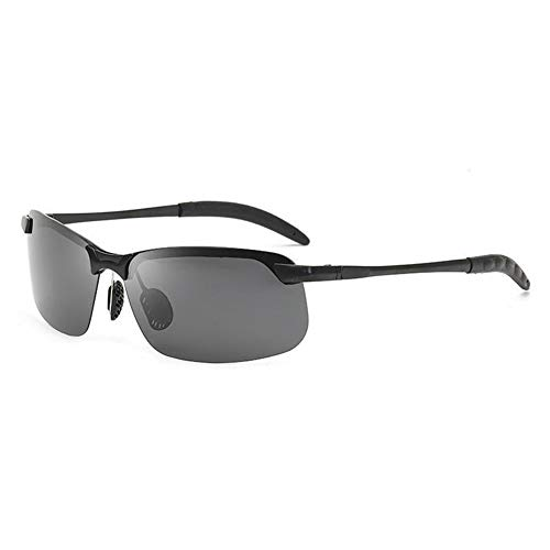 SLAKF Gafas duraderas Gafas de Sol polarizadas fotocromáticas Hombres de conducción del rectángulo camaleón Cambio de Color Gafas de Sol Día visión Nocturna antideslumbrante Gafas
