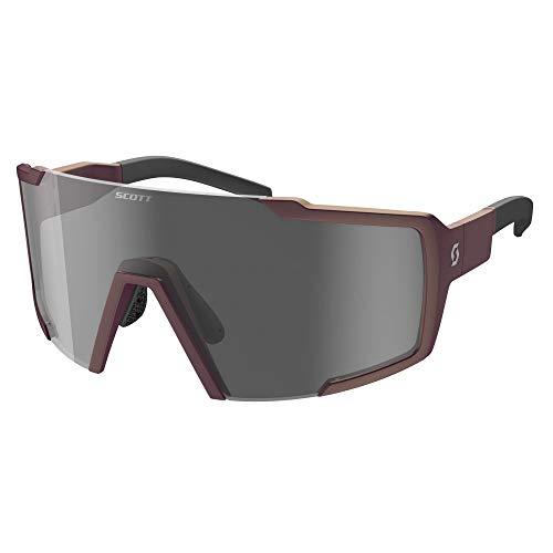 Scott Shield Nitro - Occhiali da ciclismo per lenti intercambiabili, colore: Viola/Grigio