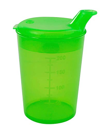 Medi-Inn Schnabelbecher Schnabeltasse Trinkbecher Becher 250 ml (Trinköffnung: 8 x 4 mm, grün)