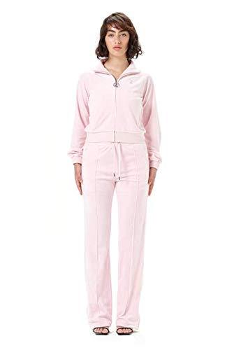 JUICY Couture Felpa ZIN CINIGLIA Rosa con Dettaglio Strass M