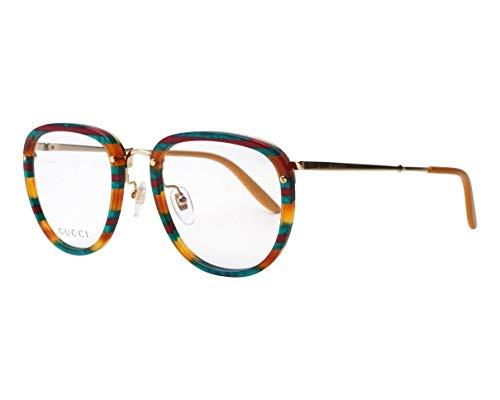 Gucci GG0675O BLUE AMBER HAVANA 52/22/145 Herren Brillen
