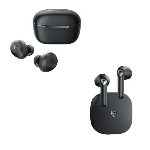 SoundPEATS T2 and TrueAir2 Black Wireless Earbuds
