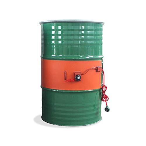 MZBZYU Calentador De Tambor Aceite Metal Silicona Calentador De Banda De Tambor De 53 Galones / 200 litros Calentador De Barril De Control De Temperatura Giratorio Aislado,Knob