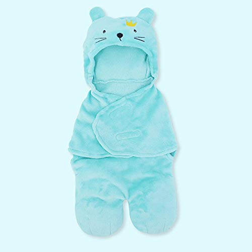 Neutral Swaddle Blanket Baby Sleeping Bag Hug Is Thickened In Autumn And Winter. Newborn Anti-Shock Out. Unicorn 0-6 Months@Cat Child Comfort Quilt
