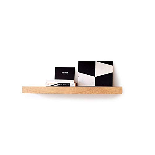 Kasahome Mensola da Parete in Legno Pensile Scaffale Mensole a Muro MDF Arredamento Casa W Kit di Fissaggio a Scomparsa (Noce, 80 cm)