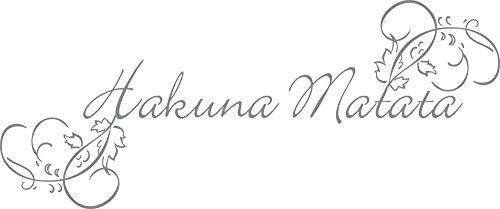GRAZDesign Wandtattoo Schriftzug Afrika - Wandaufkleber Wohnzimmer Hakuna Matata - Büro Einrichten mit Wandtattoo Afrikanisches Motiv / 72x30cm / 720157_30_074